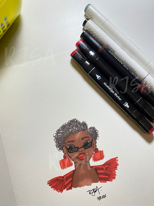 No Rose Colored Glasses illustration print