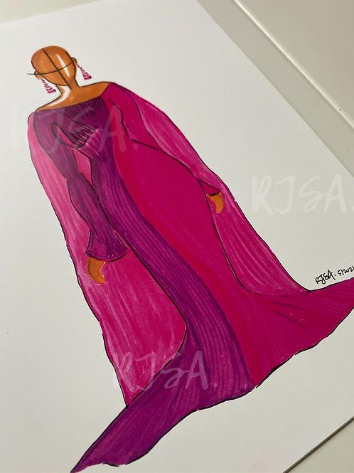 Rasberry Ripple illustration print