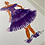 Thumbnail: Lady Lavendar/Twirl in Tulle illustration print