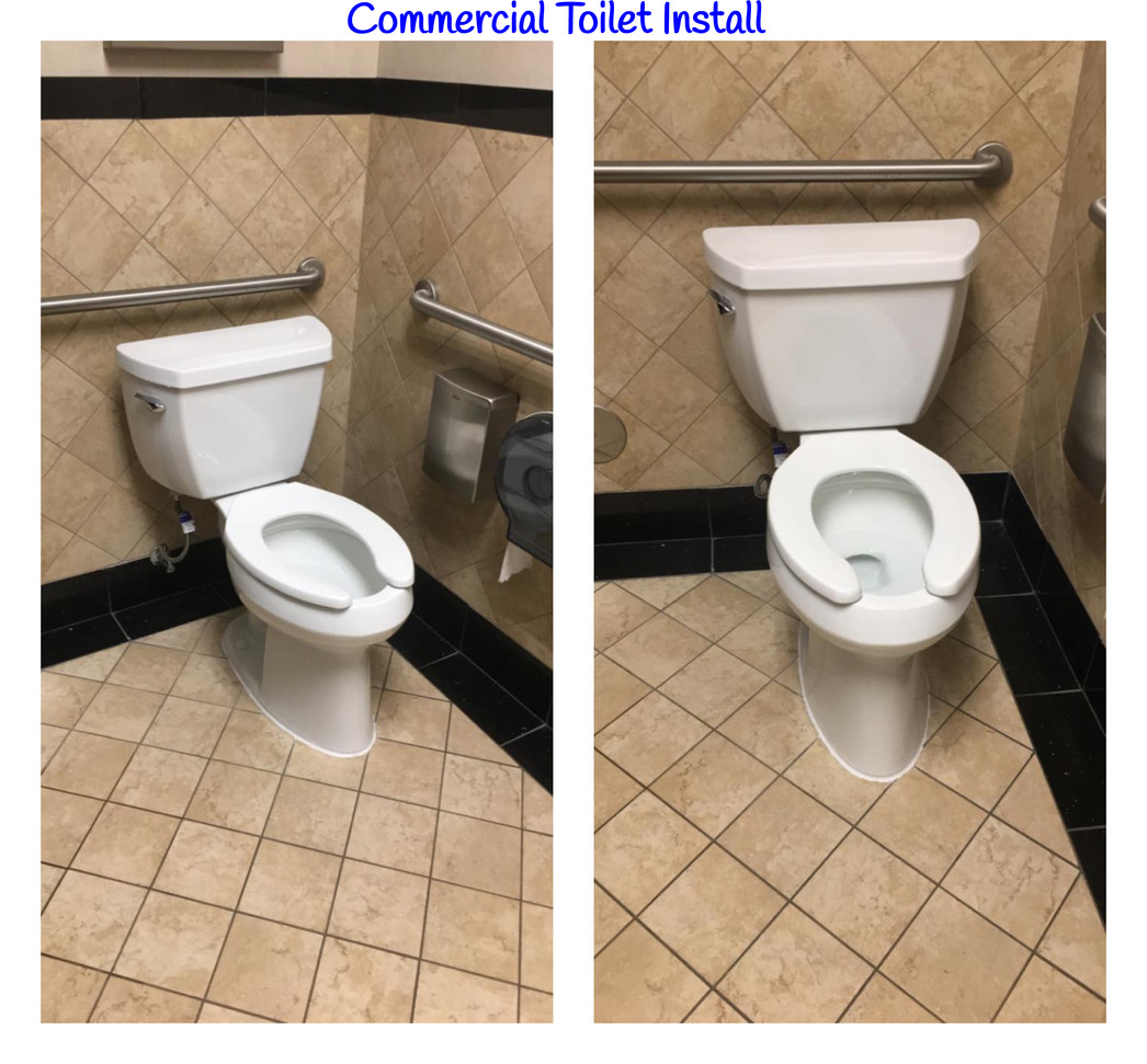 Commercial Toilet Install