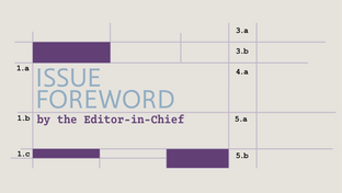 Issue 4 Foreword