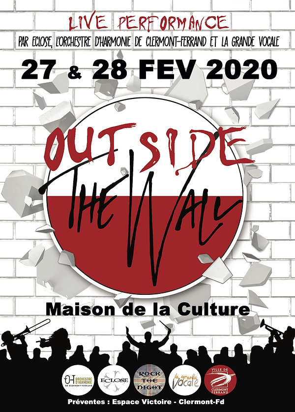 Affiche Ouside The wall date incl - copi