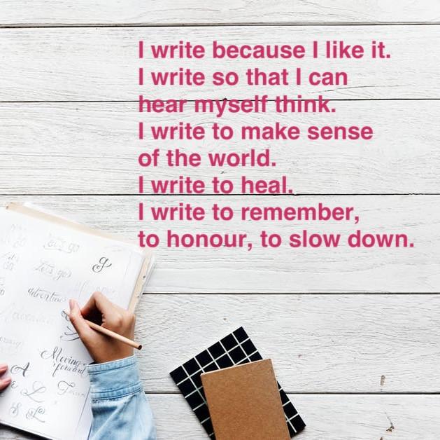 WHY I WRITE #7- A WAY OF HOW I AM