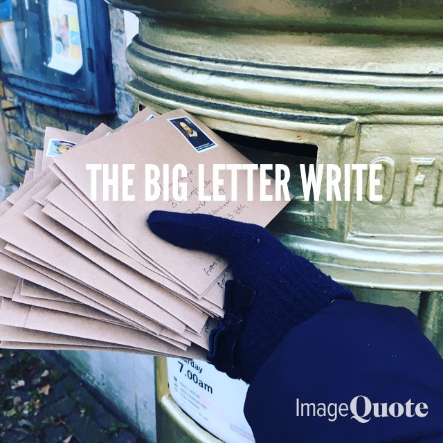 THE BIG LETTER WRITE
