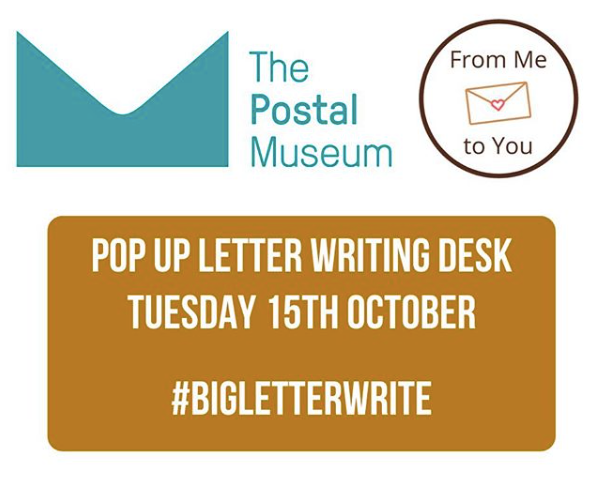 BIG LETTER WRITE AT THE POSTAL MUSEUM