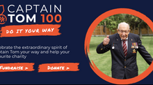 CELEBRATE CAPT TOM'S 100 GARDEN LAPS & HELP US DELIVER 100 LETTERS