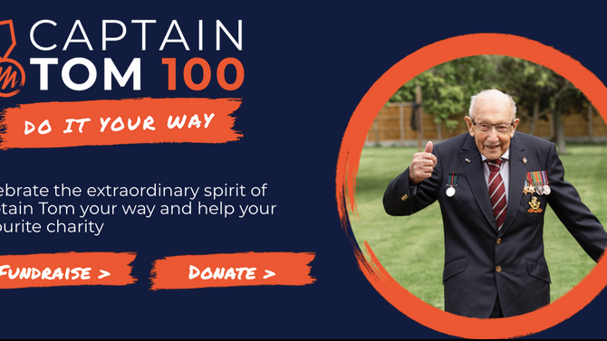CELEBRATE CAPT TOM'S 100 GARDEN LAPS & HELP US DELIVER 100 LETTERS
