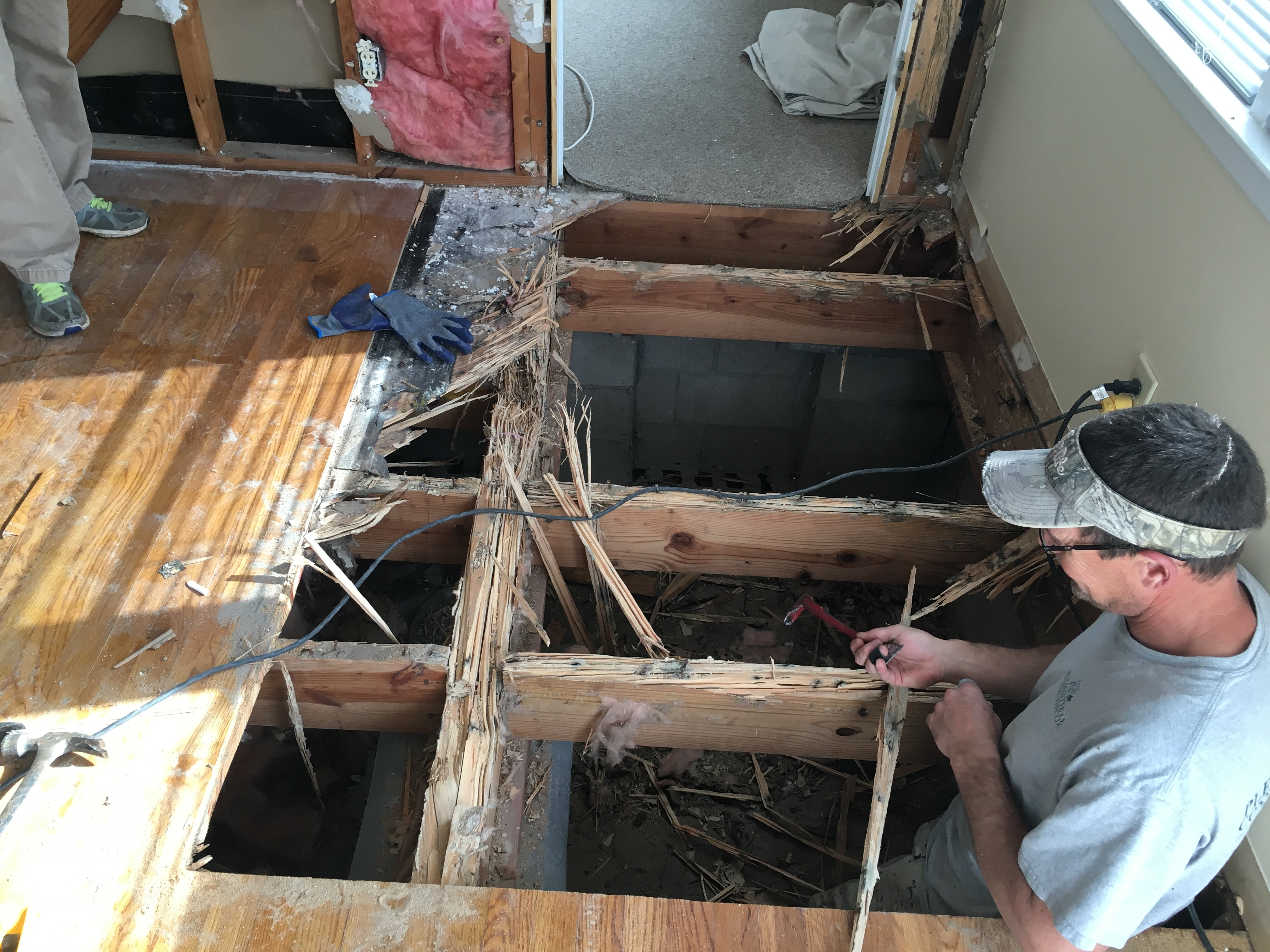 Termite Damage Floor Joist