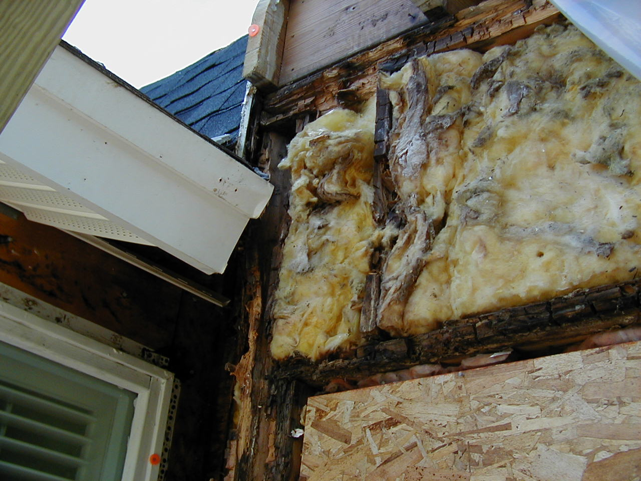 Damage Behind Gutter