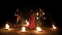 cirque musical fire show