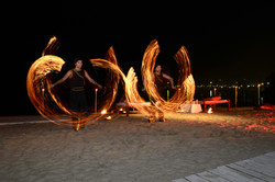 fire duet with ropes