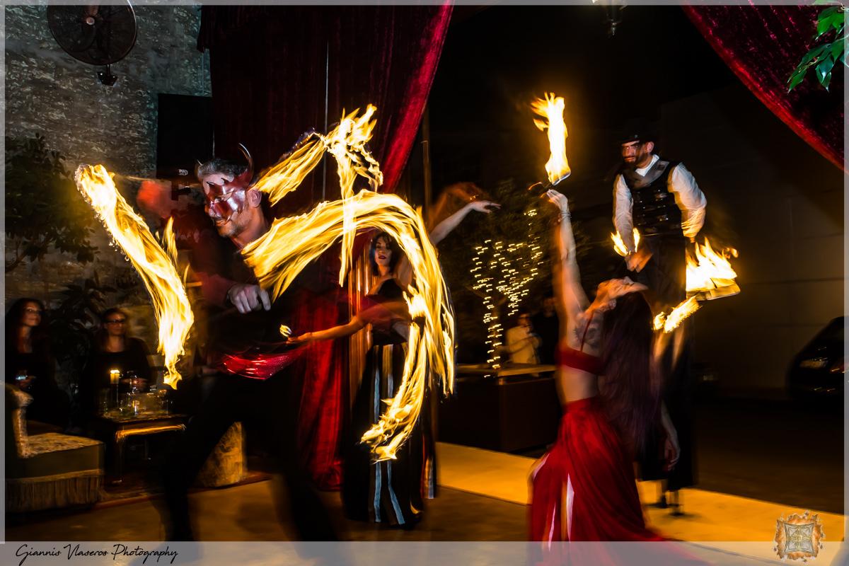 circus cabaret fire act