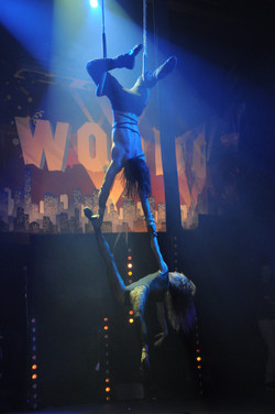 aerial duet on trapezez