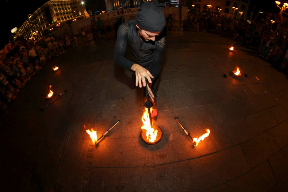 deva solo fire act