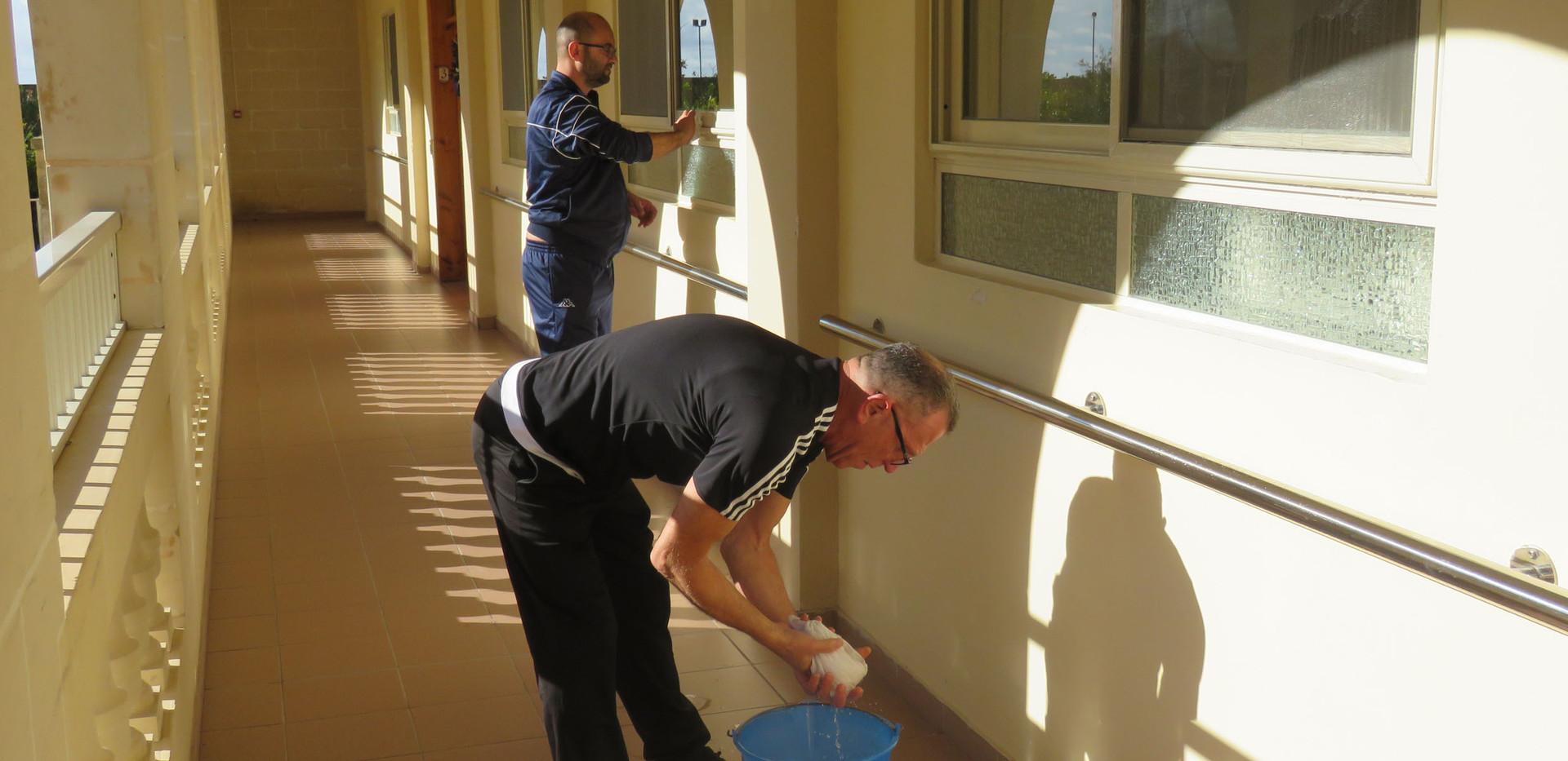 Voluntary work in Dar tal-Providenza