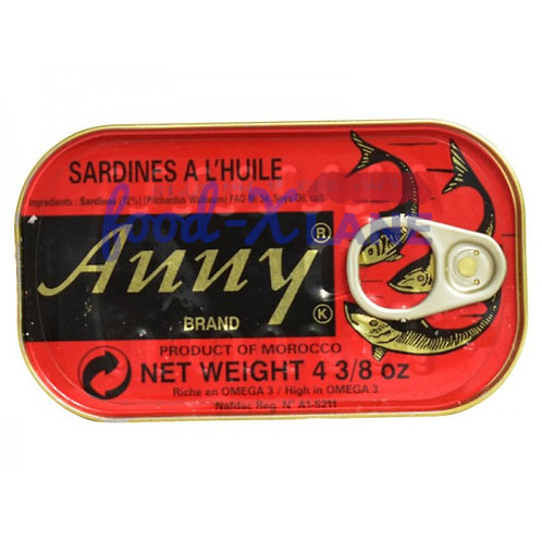 Anny sardines in spicy oil 125gr