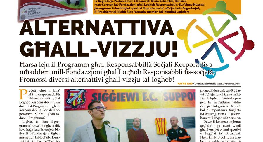Torċa article on Siġġiewi football premises