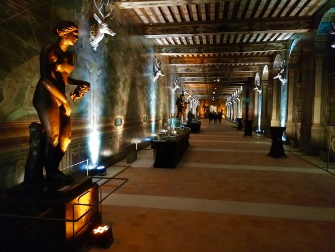 Eclairage Galerie des Cerfs   Chateau de Fontainebleau