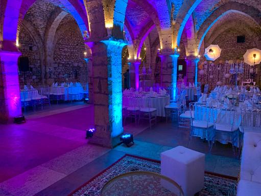 Eclairage de Salle Bleu & Rose