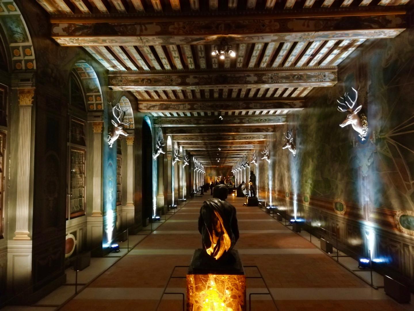 Eclairage Galerie des Cerfs | Chateau de Fontainebleau