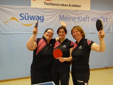 Herzlichen Glückwunsch an unsere Tischtennis-Damen!