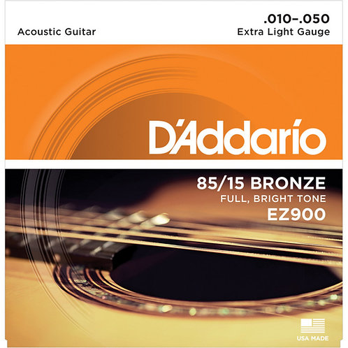 D'Addario EZ900 85/15 BRONZE 10-50 EXTRA LIGHT ACOUSTIC STRINGS