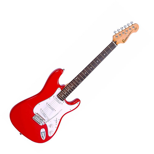Encore Strat Electric Guitar Red
