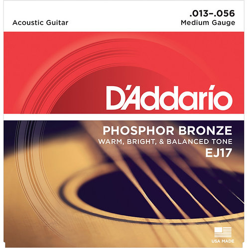 D'Addario EJ16 PHOSPHOR BRONZE 13-56 MEDIUM ACOUSTIC STRINGS
