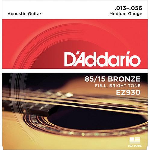 D'Addario EZ930 85/15 BRONZE 13-56 MEDIUM ACOUSTIC STRINGS