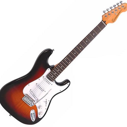 Encore Strat Electric Guitar Sunburst