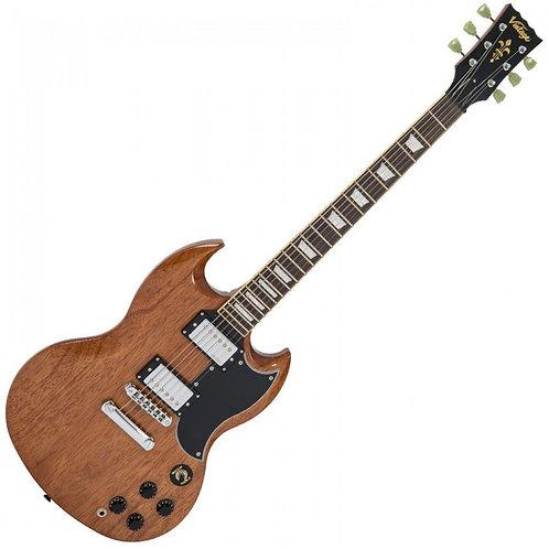 VINTAGE VS6 SG Electric Guitar Natural