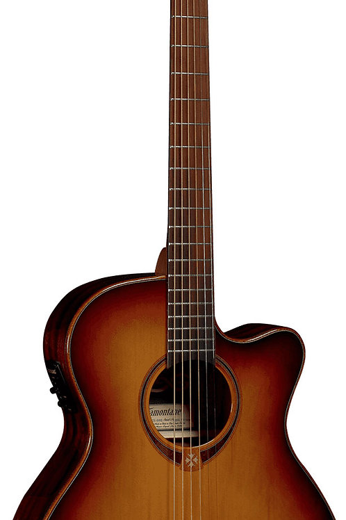 LAG T118SA CE Auditorium Solid Top Electro-Acoustic Guitar SB