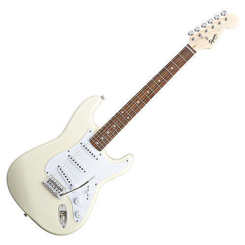 SQUIER BY FENDER BULLET STRATOCASTER ELECTRIC GUITAR ARCTIC WHITE
