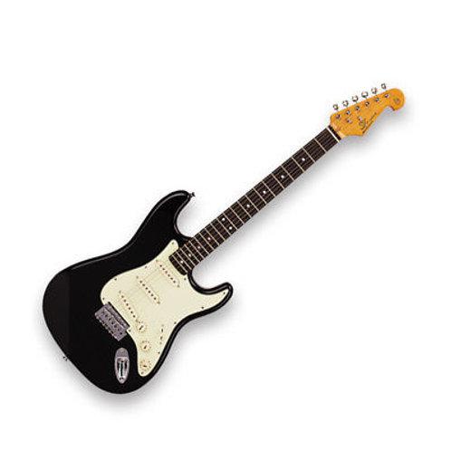 SX Vintage Series Strat Electric Guitar Black