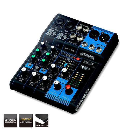 Yamaha MG6X 6 Channel Mixer with Effects