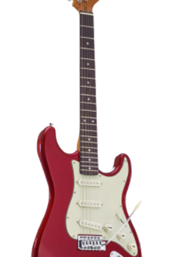 SX Vintage Series Strat Electric Guitar Red