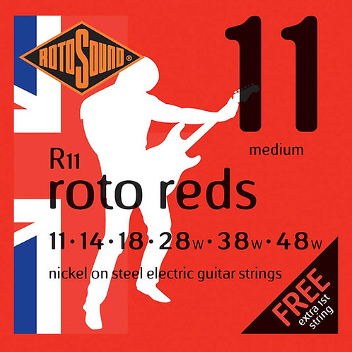 ROTOSOUND REDS R11 11-48W ELECTRIC GUITAR STRINGS