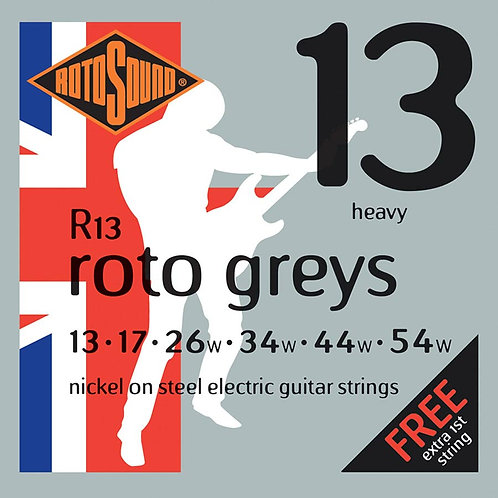 ROTOSOUND GREYS R13 13-54W ELECTRIC GUITAR STRINGS