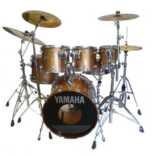 Yamaha 30th Anniversary Gold Sparkle Drum Kit