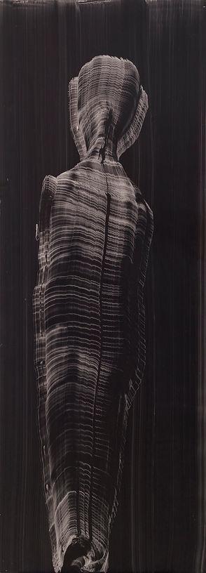 מרים כבסה, מומיה, 1998, צבעי שמן על מזונ