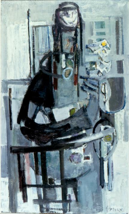 צבי מאירוביץ', אישה דרוזית, אוסף מוזיאון חיפה לאמנות