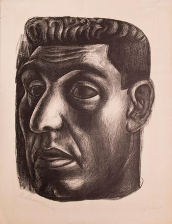 דויד אלפרו סיקיירוס, דיוקן עצמי, אוסף מוזיאון חיפה לאמנות