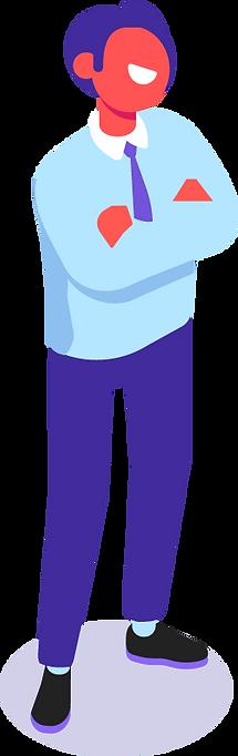 man standing iilustration