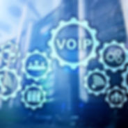 VoIP Voice over IP on the screen with a