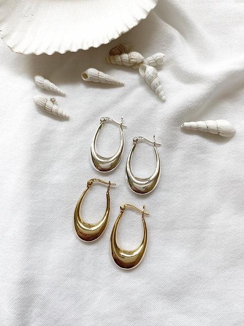 עגילי מוניקה | כסף 925/ציפוי זהב
