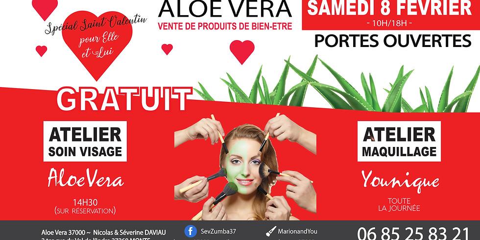 Atelier Soin Visage Aloe + Maquillage + Portes ouvertes Aloe