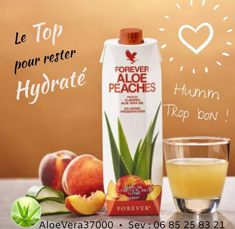 Aloe pêches - boire de l'aloe pour être en forme