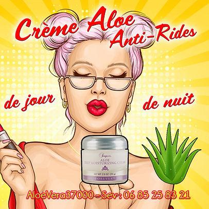 crème de beauté Alo Vera : La peau est raffermie, paraît visiblement plus jeune et lissée