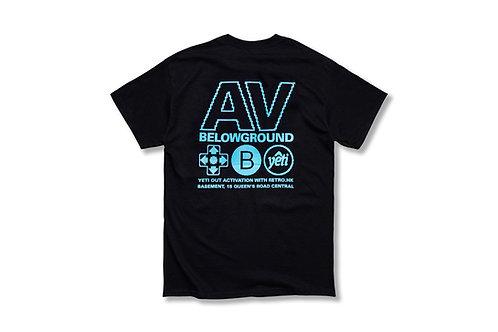 "8-Bit Yeti""AV-BG"" Black/Blue T-shirt"