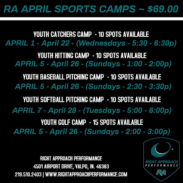 April Sports Camps - Made with PosterMyW